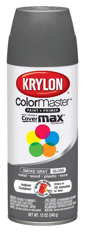 Krylon K05160807 Smoke Gray Interior and Exterior Decorator Paint - 12 oz. Aerosol