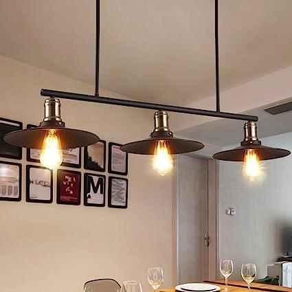 Meters Lámpara de restaurante de araña de viento industrial ...