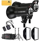 GODOX SK400 800W Photography Flash Studio Strobe Kit Two 400w Sk400 Monolight Lighting,Includes 2X 400W SK400 Strobe…