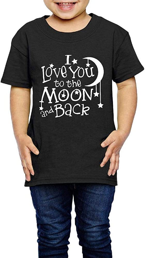 2-6 Years Old I Love You to The Moon Back Girls Boys Personality T-Shirt Short Sleeve Tee