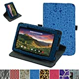"""RCA 7 VOYAGER II Rotating Case,Mama Mouth 360 Degree Rotary Stand With Cute Lovely Pattern Cover For 7"""" RCA 7 VOYAGER II RCT6773W22 2015 Model Tablet,Blue"""
