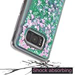 Galaxy S8 Case, VPR Sakura Liquid Quicksand Moving Stars Bling Glitter Floating Dynamic Flowing Love Heart Clear Soft TPU Protective Cover for Samsung Galaxy S8 12 Compatible Model: Samsung Galaxy S8. Material: High quality polycarbonate plastic and quicksand. The case is transparent with liquid inside,which is fashionable ,popular and interesting.