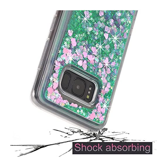 Galaxy S8 Case, VPR Sakura Liquid Quicksand Moving Stars Bling Glitter Floating Dynamic Flowing Love Heart Clear Soft TPU Protective Cover for Samsung Galaxy S8 4 Compatible Model: Samsung Galaxy S8. Material: High quality polycarbonate plastic and quicksand. The case is transparent with liquid inside,which is fashionable ,popular and interesting.