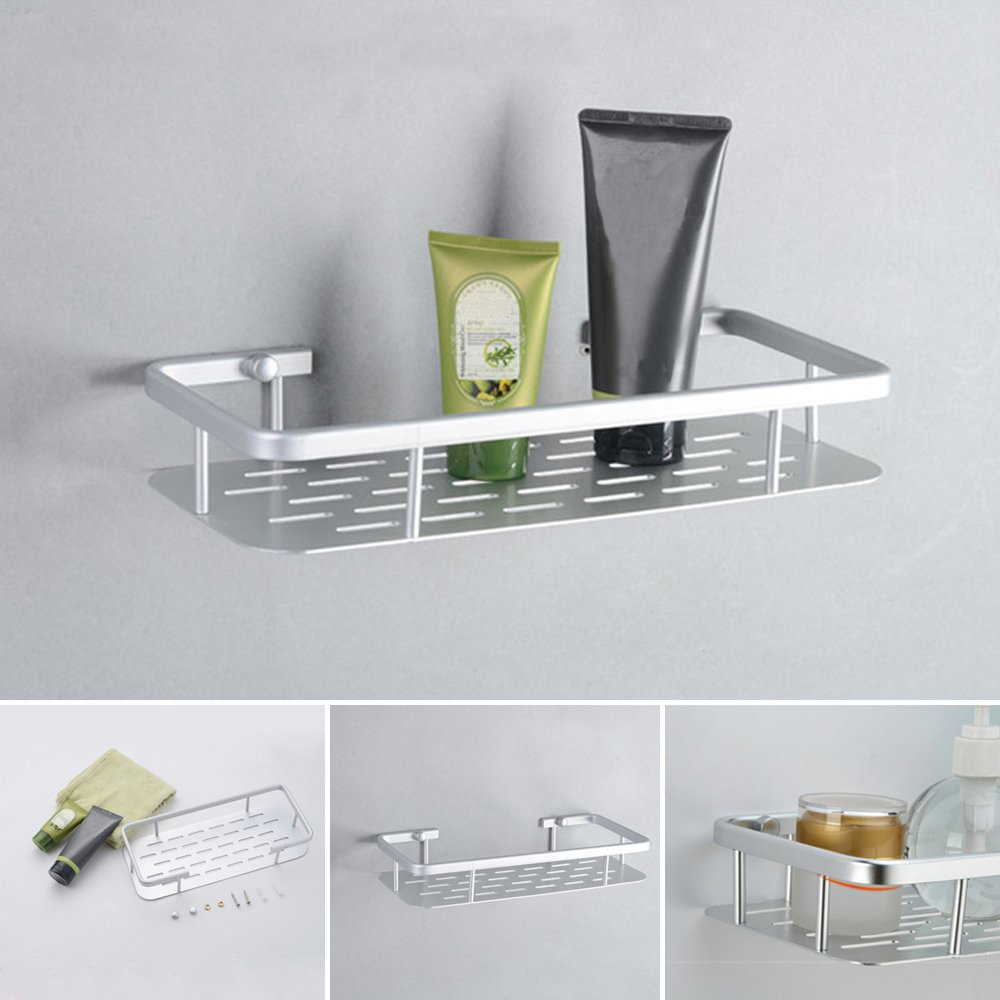 Amazon.com: 1 Tier Aluminium Shower Shampoo Soap Storage Holder ...