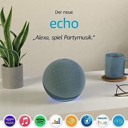 Der Neue Echo 4 Generation Mit Herausragendem Klang Smart Home Hub Und Alexa Blaugrau Alle Produkte