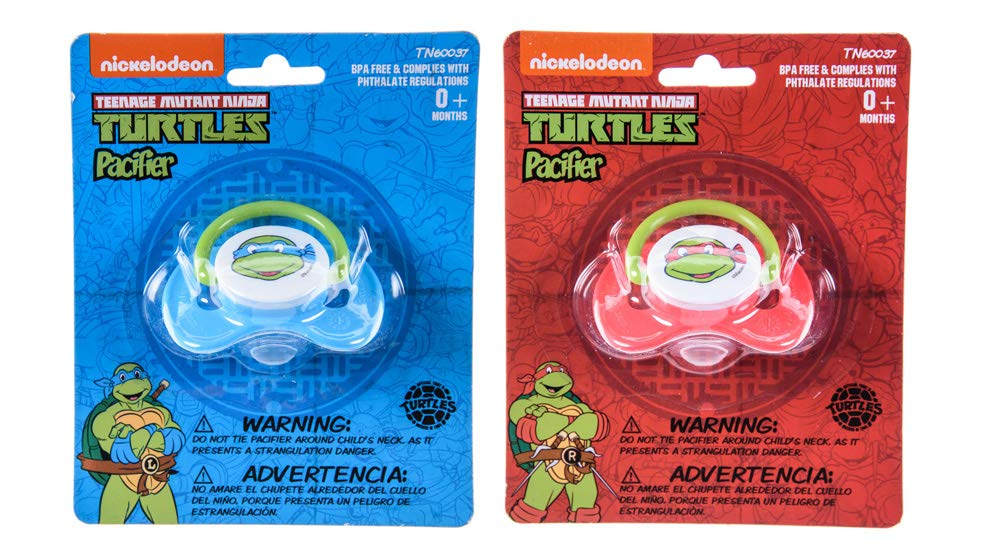 Amazon.com : Nickelodeon Ninja Turtles Pacifier 2 Pack for 0 ...