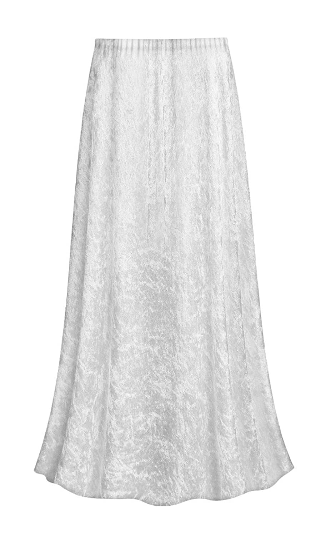 Sanctuarie Designs White Crush Velvet Plus Size Supersize Skirt