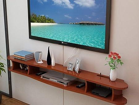 XINGPING-Shelf Minimalista Moderno Apartamento pequeño Mini TV para Colgar Gabinete, Sala de Estar Dormitorio Conjunto Caja Superior Estante de Pared, gabinete para Colgar en la Pared: Amazon.es: Hogar