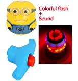 WonderKart Led Colorful Flashing Lights & Musical Spinning Top Toy - Color May Vary