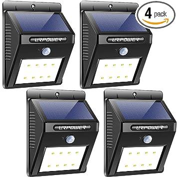 Amazon.com: URPOWER Luces Solares Inalámbrico Impermeable ...