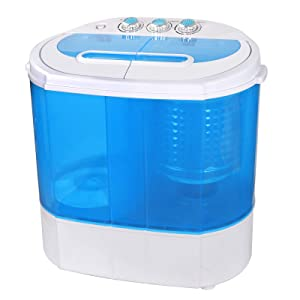 ZENY Portable Mini Compact Twin Tub Washing Machine Washer Spain Spinner 9.9lbs Capacity, Lightweight Small Laundry Washer for Apartment