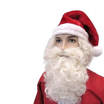 FAKE SANTA CLAUS FATHER CHRISTMAS BEARD Mens Fancy Dress