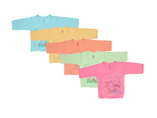 bb57b279a454c Jo Kids Wear Infant's Cotton Top Assorted Colour_0-3 months (Set Of 5):  Amazon.in: Clothing & Accessories