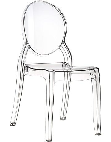 Stock Sedie In Plastica.Amazon It Sedie Sala Da Pranzo Casa E Cucina