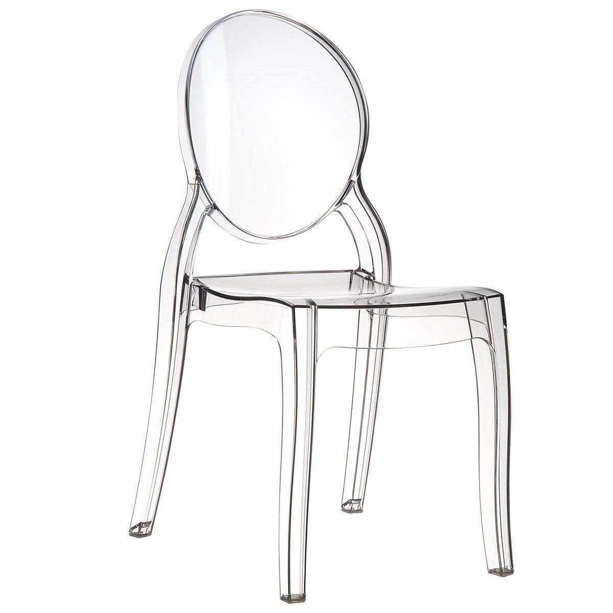 Set de 4 sillas transparentes modelo Elizabeth. Opción de 2 sillas.