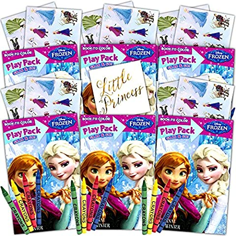 Frozen Ultimate Party Favors Packs -- 6 Sets with Stickers, Coloring Books and Crayons (Party Supplies)