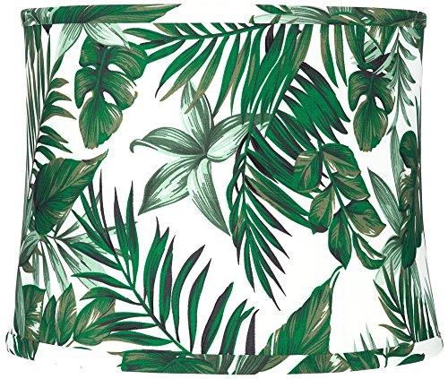 Manaus Green Tropical Drum Lamp Shade 12x13x10