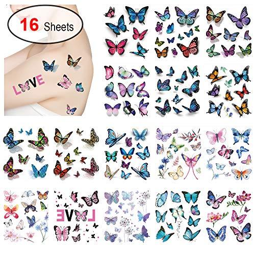 Tattoos Butterflies - Konsait Kids Tattoos Butterfly Temporary Tattoos,