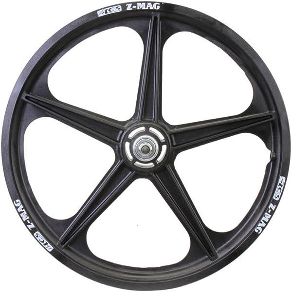 "ACS Z-mag 5-spoke Mag BMX Wheels Black 20/"" Set Freewheel"