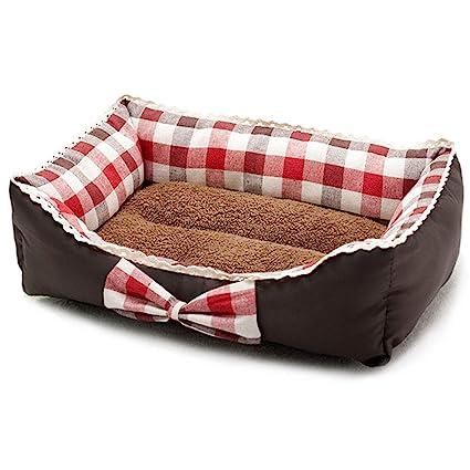La Cama del Perro, Lujoso colchón de Espuma de Alta Densidad Sofá Lavable Fondo Antideslizante