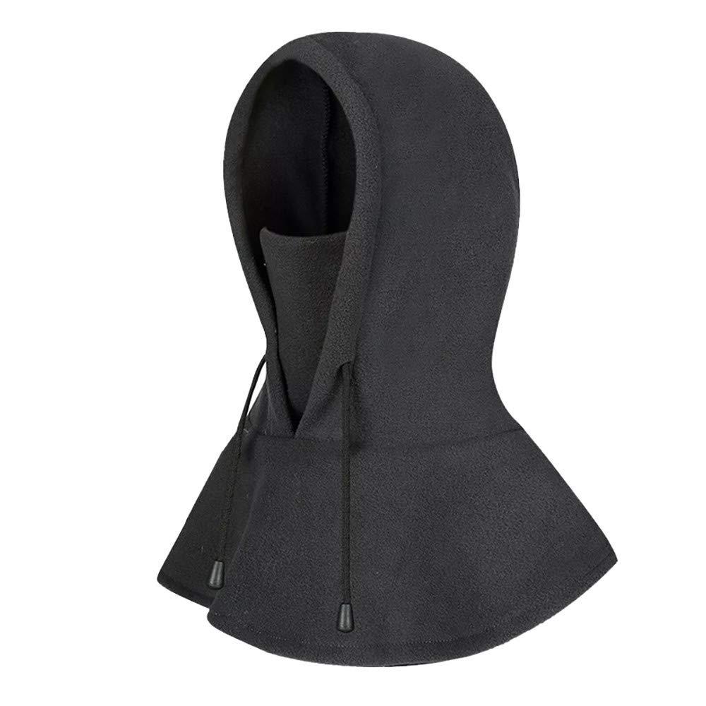 TIFENNY Oldelf Tactical Heavyweight Balaclava Outdoor Sports Mask Riding Hat Cap Hat Collar Scarf Dark Gray