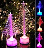 Chartsea Christmas Xmas Tree, Merry LED Color Changing Mini Christmas Xmas Tree Home Table Party Decor (A)