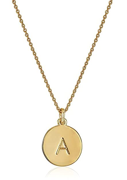 557589f047982 Amazon.com: 14K Gold on Sterling Silver Letter Pendant Necklace 14 ...