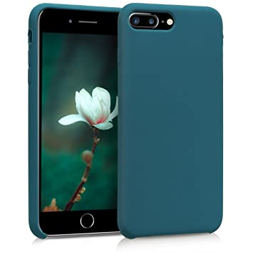 kwmobile Funda para Apple iPhone 7 Plus / 8 Plus - Carcasa de {TPU} para teléfono móvil - Cover {trasero} en {petróleo mate}