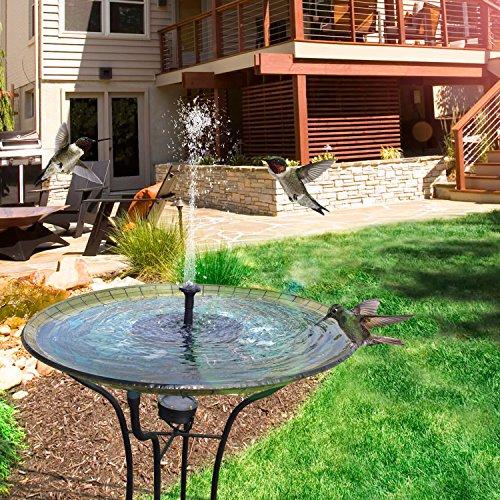 TOMONOLO Solar Fountain Pump for Bird Bath, 1.4W Free Standing Solar Powered Water Pump for Birdbath,Garden Pond Outdoor by TOMONOLO (Image #3)