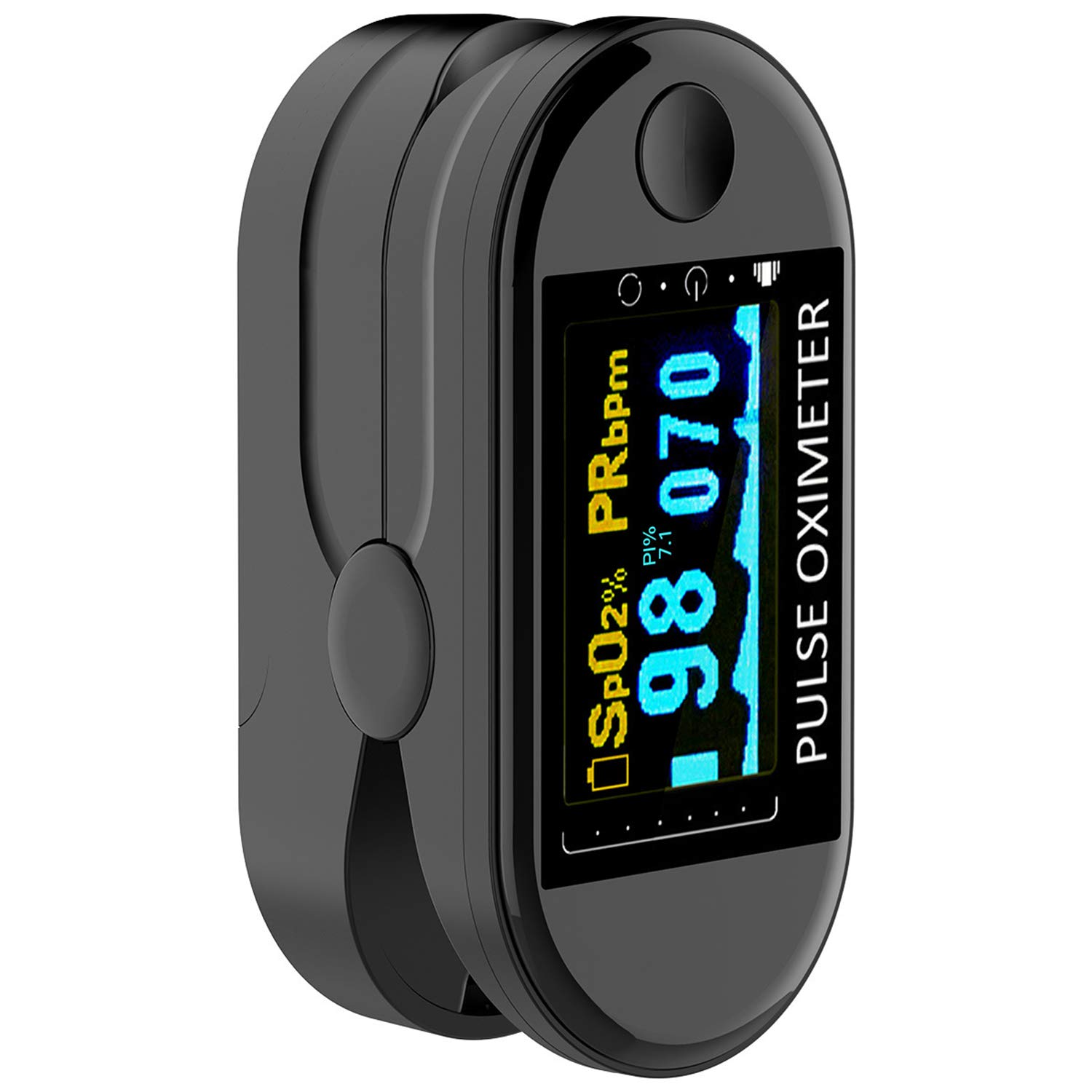 Pulse Oximeter Fingertip, AVBONG Blood Oxygen Saturation Monitor (SpO2) with Pulse Rate Measurements and Pulse Bar Graph, Portable Digital Reading LED Display