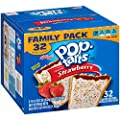 Kellogg's Pop-Tarts Frosted Toaster Pastries, Frosted Strawberry, 32 Count