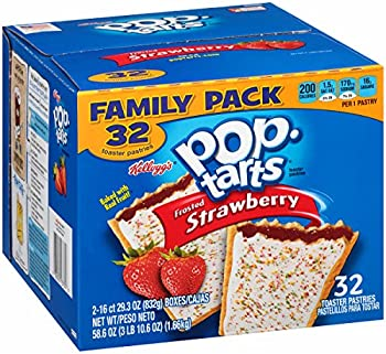 32-Count Kellogs Frosted Strawberry Pop-Tarts