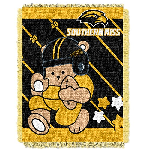 Southern Mississippi OFFICIAL Collegiate, Fullback Baby 36 x 46 Triple Woven Jacquard Throw
