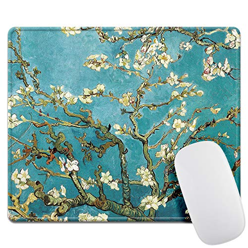 Van Gogh Almond Blossom Gaming Mouse Pad -Thick 3mm- Personality Mouse Pads with Design - Non Slip Rubber Mouse Mat