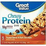 Großartig Value Peanut Butter & Dark Chocolate Chewy Protein Bars, 1.4 oz, 5 count