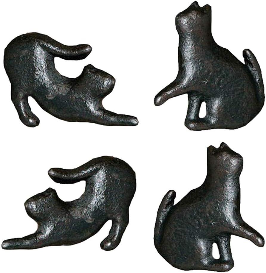 Gaodpz 4pcs Variety Gusseisen Nette Katze-Art-T/ür-Fach-Kabinett Schrank Pull Griff Kn/öpfe Jahrgang l/ändliche M/öbelbeschl/äge