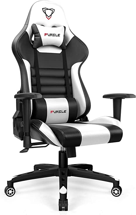 Furgle Gaming Chair Office 180° Recliner Racing Style Computer Seat Swivel Desk