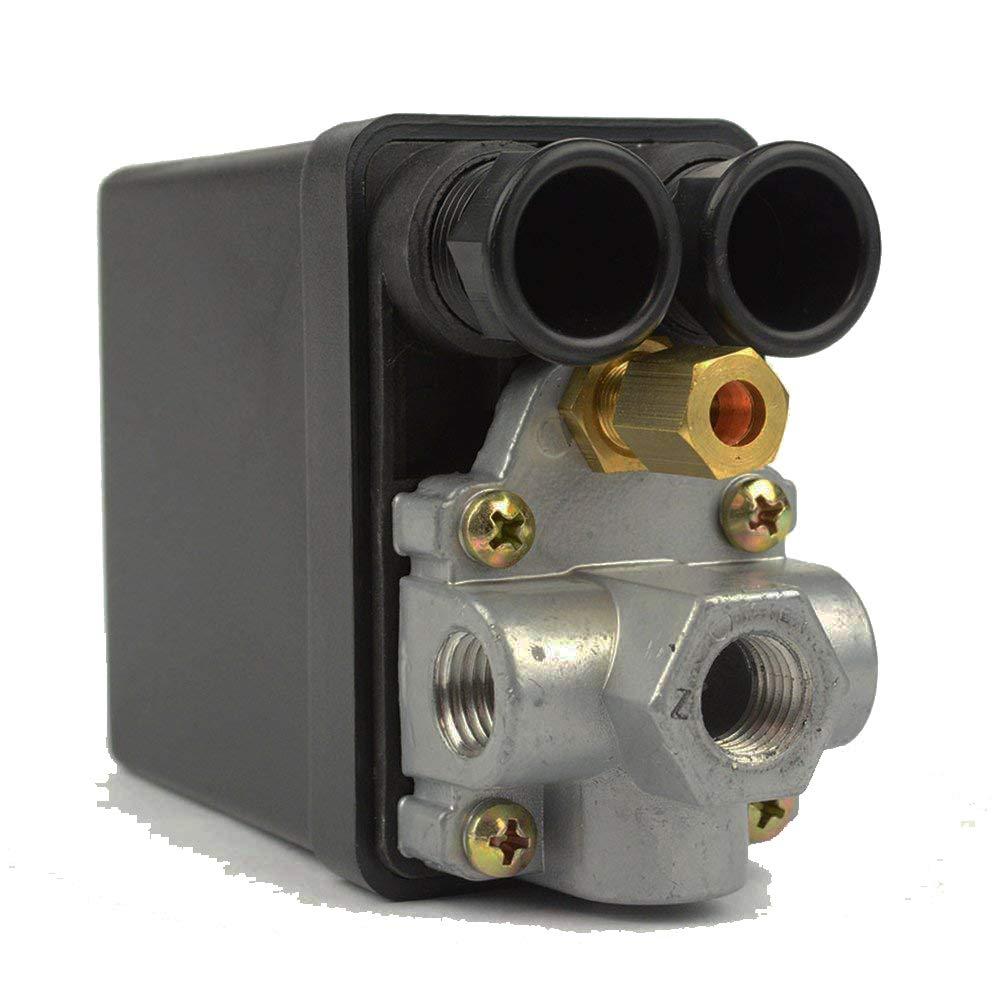 Interstate Pneumatics LF10-L4H Pressure Switch - 1/4 inch FPT Four Port -