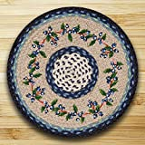 15.5in. x 15.5in. Blueberry Vine Round Chair Pad - Set of 4