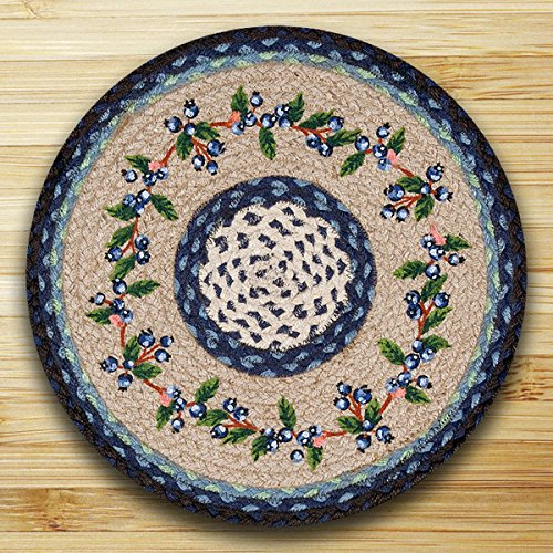 15.5in. x 15.5in. Blueberry Vine Round Chair Pad - Set of 4 by Heart of America