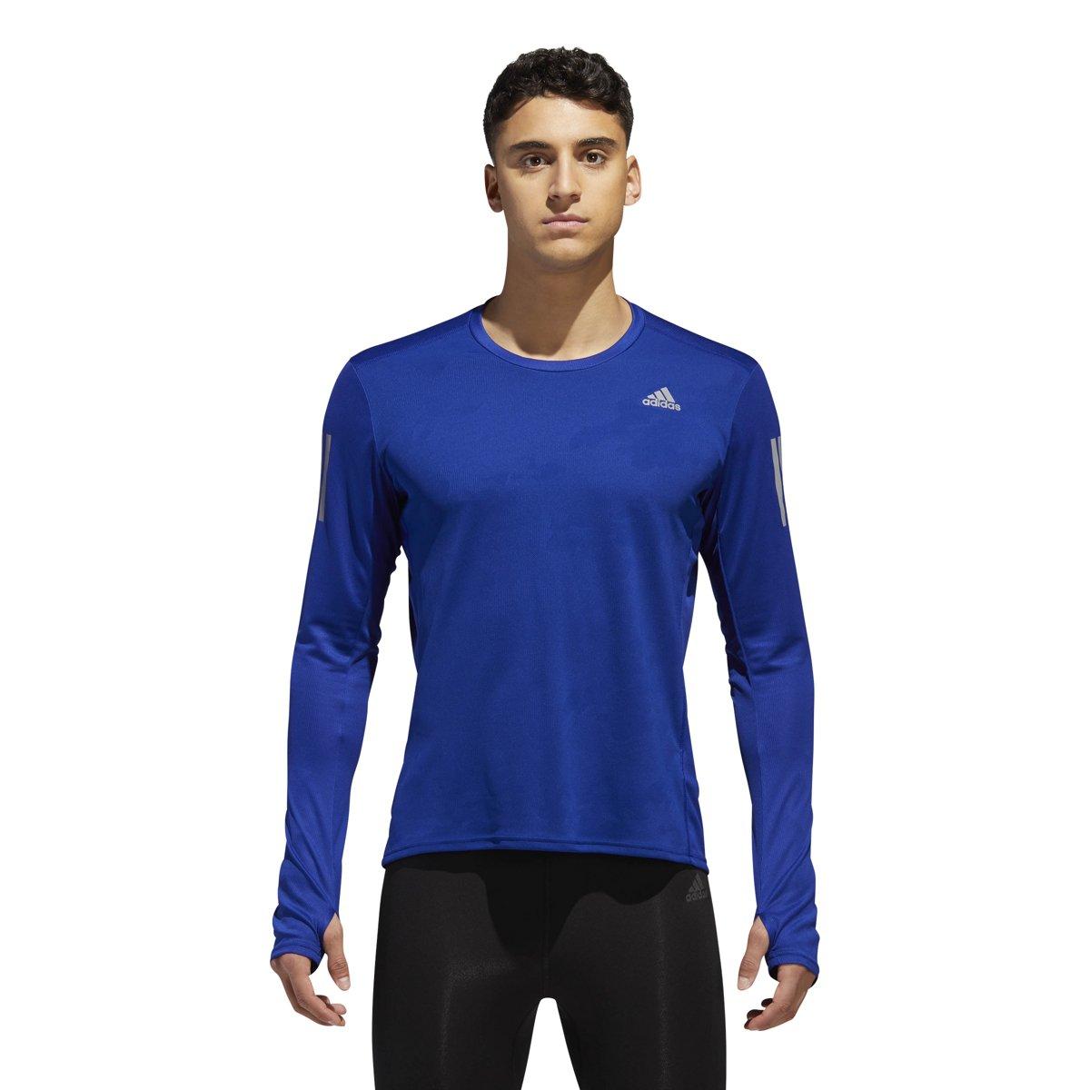 Adidas Running Response Long Sleeve Tee Medium Mystery Ink B077ZGRVLW