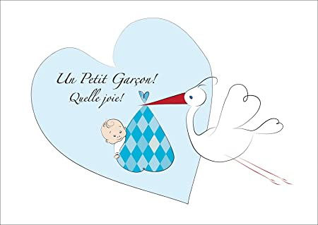sweet french baby card boy baby boy greeting card new baby card