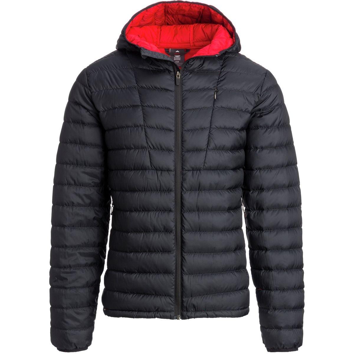 Sierra Designs Whitneyフード付きダウンジャケット – メンズ B076JGTJBQ Small|ブラック ブラック Small