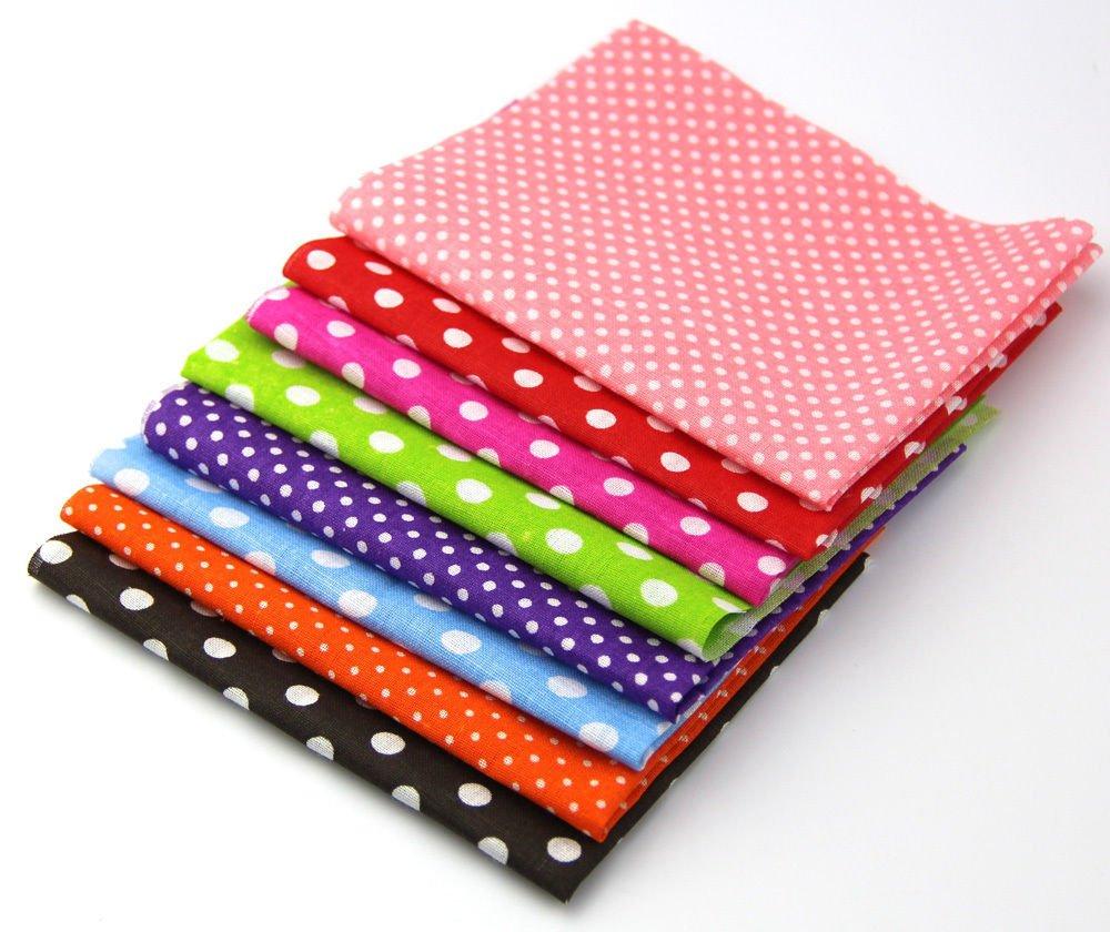 RayLineDo/® 50pcs 10*10cm Fabric Patchwork Craft Cotton Material Mixed Squares Bundle