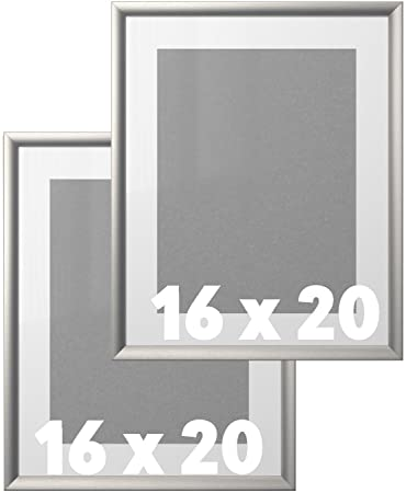 Amazoncom Ikea Wall Picture Frame Silver Metallic Color 16 X 20