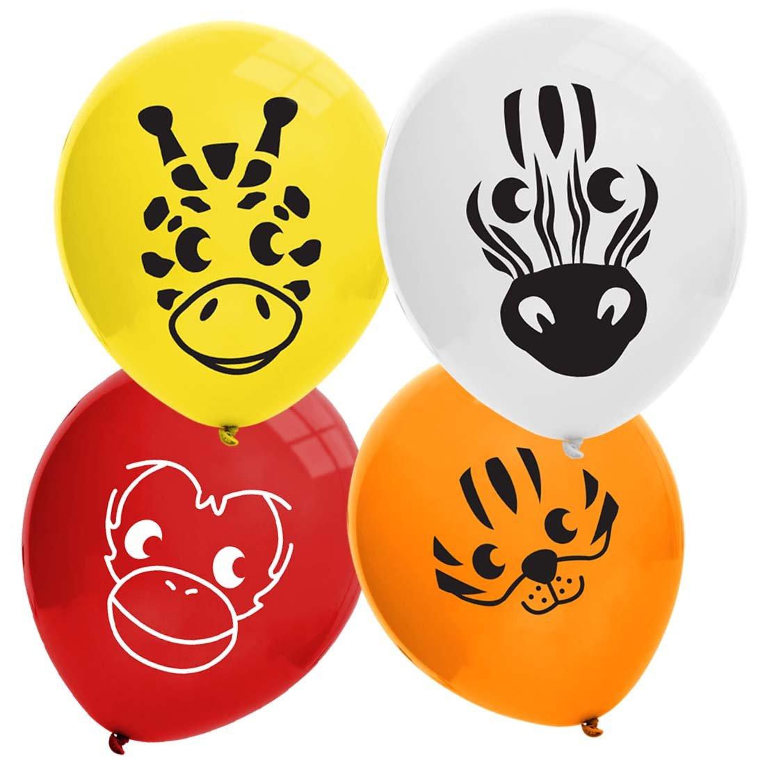 Bundle Monster Cute 32pc Kids Birthday Party Balloons - Safari Animal Theme
