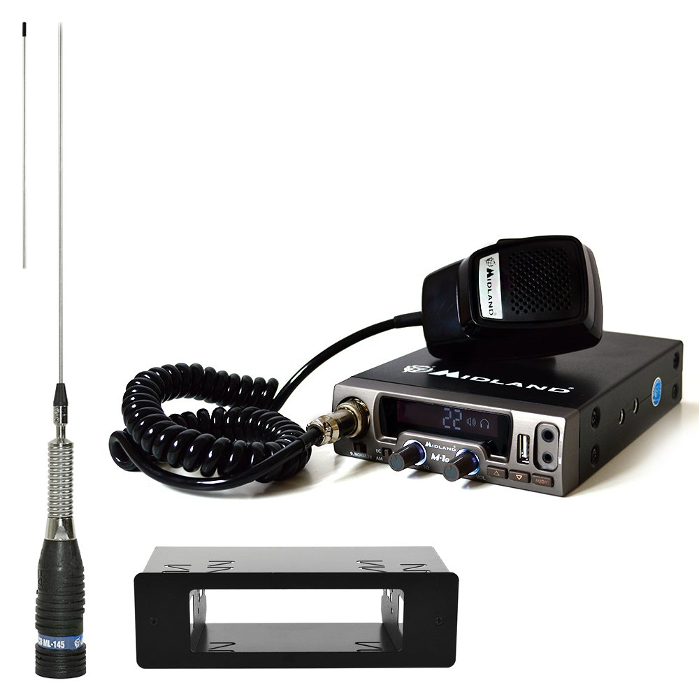 PNI CB Radio Kit de Midland M10 (c1185) + 1 DIN Carcasa de + ...