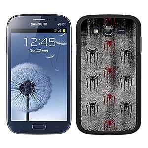 Funda carcasa para Samsung Galaxy Grand diseño araña borde negro