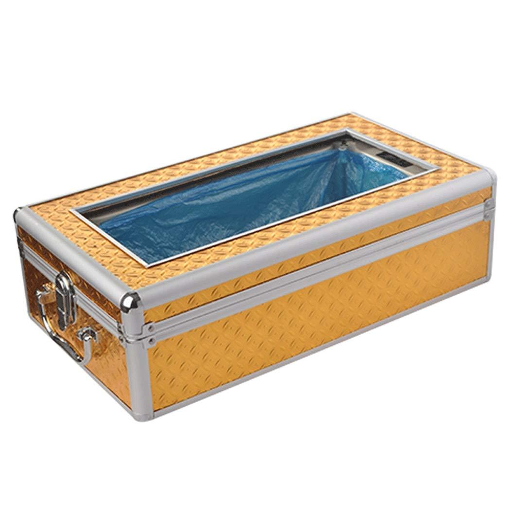 YUNHAO Golden Home Shoe Cover Machine Automatic Disposable Aluminum Alloy Non-Slip Shoe Cover Machine to Send 100 Shoe Covers 452513.5cm Shoe Cover (Color : Gold, Size : 452513.5cm)