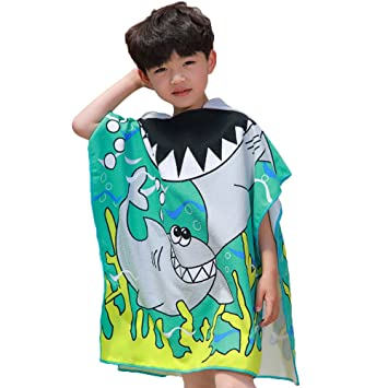 Amazon.com : Kids Hooded Towel, WDDH Beach Towel Cloak Toddler and Child Girls Multi-use for Beach Pool Poncho Towels and Home Bath Robe : Baby